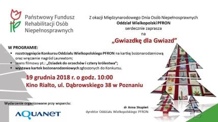PFRON_zaproszenie_19.12.2018_godz.10_Kino Rialto w Poznaniu